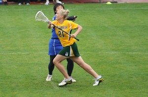 Stacey Morlang playing for Australia