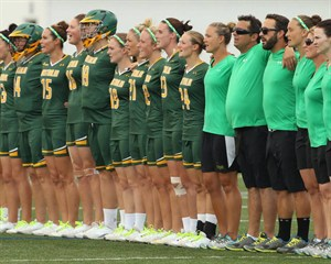 2013 WWC - AUS singing anthem