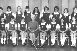 1969: BACK ROW (Left to right): HANNAN Delma, CHEEVERS Elizabeth, KENNEDY Pauline, MULLER Lyn, ORR Val, KENDALL Kendrea, WATMUFF Margaret, ANTWORTH Joy, CARPENTER Margaret (Coach). FRONT ROW (Left to right): GIBBS Dianne, MILLER Lauris, APPLEBY Donna (Vice Captain), PARKER Joy (President), NAULTY Anne (Captain), SPEAKMAN Lyn, LACY (nee ORR) Christine, GRANT (nee PARKER) Vivienne