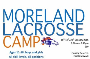 Don't miss the Moreland Junior Lacrosse Camp!