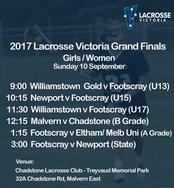2017 Lacrosse Victoria Finals Series Girls and Women Grand Finals