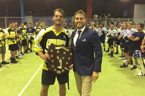 Brody Black was awarded the 2018 Highest Point Scorer by Lacrosse Victoria GM Sam Watson