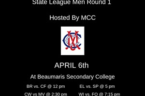 Men's State League Round 1 2019