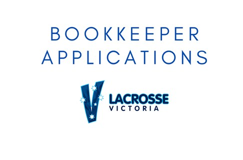 Applications for Lacrosse Victoria Bookkeeper